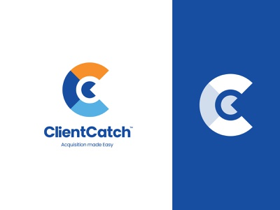 Client Catch - Logo Design startup branding logo design branding lettermark ui logotype brand identity branding c letter logo logo design logo client catch catch client digital marketing home services financial healthcare legal lead generation leads