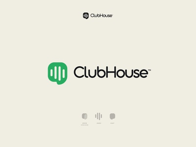 Clubhouse Logo Concept audio logo house concept design trending ios app rebrand redesign concept ui logo influencer marketing content creation chris do elon musk clubhouse logo clubhouse chat app audio audio chat meeting rooms