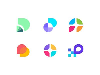 Unused logo mark concepts p logo identity designer branding visual identity ui symbol monogram letter mark logomark minimalistic abstact modern clever app icon icon logo design logo available unused for sale