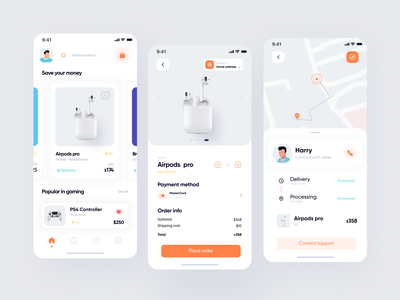 E-commerce 🛒 App UI Design app mobile app minimal ui design ios app design ui  ux product design ux ui mobile design app design ecommerce ecommerce app add to cart checkout page payment delivery shopping cart shopping app shopping