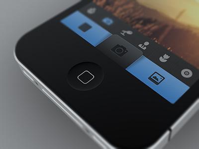 Camera App (NDA) photo camera ios app ui iphone tab tabbar tab bar