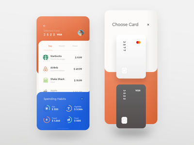 Financr 32000 money af pastel app ios hot sexy crisp smooth flat fintech finance ux ui