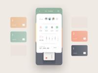 💳 K A R D O 💳 social chart stats kardo mastercard visa pay payment card credit fintech money finance mobile dashboard iphone app ux ios ui