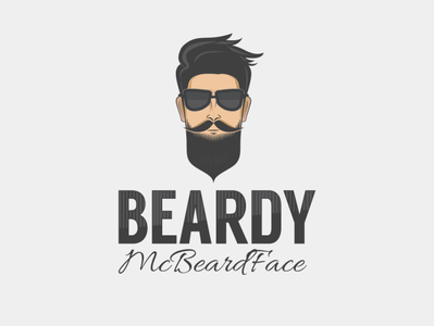 Beardy McBeard Face Logo Design