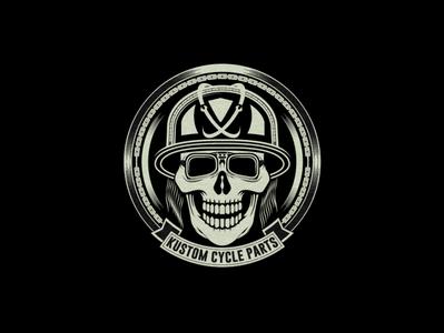 Kustom Cycle Parts Compamy Logo Design