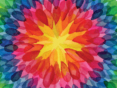 Watercolor Burst watercolour purple green blue yellow orange red overlay transparency watercolor