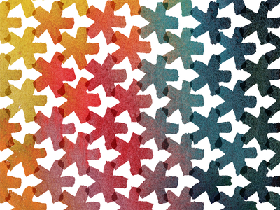 Watercolor Pattern stars yellow blue red green orange watercolor