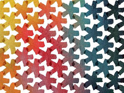 Watercolor Pattern stars yellow blue red green orange watercolor