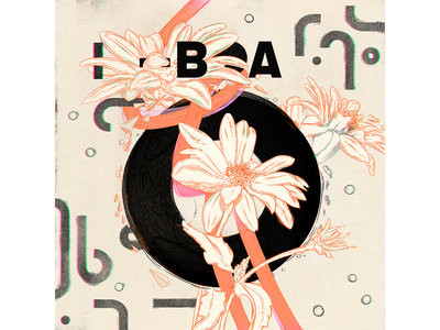 LIS—BOA poster illustration geometry circle flowers floral drawing line pattern abstract geometric typography