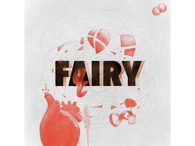 fairy drawing typogaphy red polish illustraion heart graphic doodle diacritics