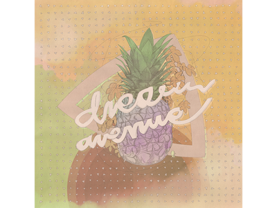 dream floral triangle typography drawing graphic dream pineapple