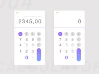 Daily UI challenge #004 — A Calculator