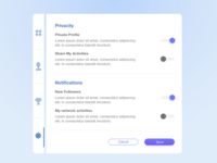 Daily UI challenge #007 — Settings Page