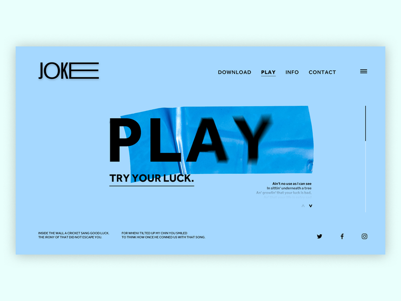 Joke (of a concept) vector art direction concept digital joke luck play experiment graphic design design web design digital design