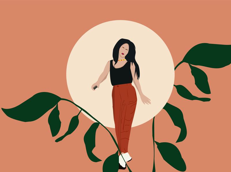 wonder girl colour palette design adobe illustrator illustration