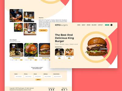 KING BURGERS - Landing page euro asia landingpage new york london chicago california food and drink food burgers landing design landing page design landing website design web design webdesign website web