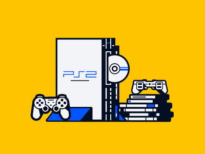 Playstation 2 20th Anniversary graphic icon graphicdesign colourful vector design painting playstation2 ps sony congratulations masterpiece art illustration color startup business halo lab halo colorful