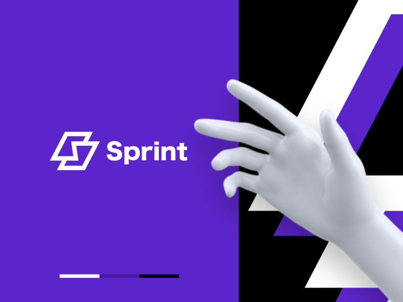 Sprint 3D Print logotype identity logo brand identity 3d print print service print 3d pattern branding color startup business halo lab halo colorful