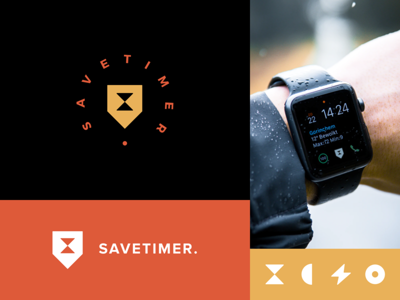 Savetimer App Logo identity logotype logo time tracker branding time optimization timing time tracker brand identity brand design pattern branding color startup business halo lab halo colorful