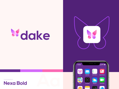Dake Gifts App Logo design logotype logo brand identity gift presents identity gradient pattern branding color startup business halo lab halo colorful