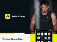 Athlation App Branding identity logotype logo brand identity communication achievements sport goals social network sport pattern branding color startup business halo lab halo colorful