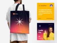 ZoomSphere Branding #3 marketing identity logo brand identity smm tool network social media gradient pattern branding color startup business halo lab halo colorful
