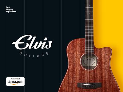 Elvis Guitars Logo & Promo vector identity logotype logo brand identity musical music guitar pattern branding color startup business halo lab halo colorful