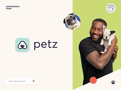 Petz Branding mockup color halo lab halo branding design logotype brand identity identity logo branding startup service pets love dog cat animals adopt