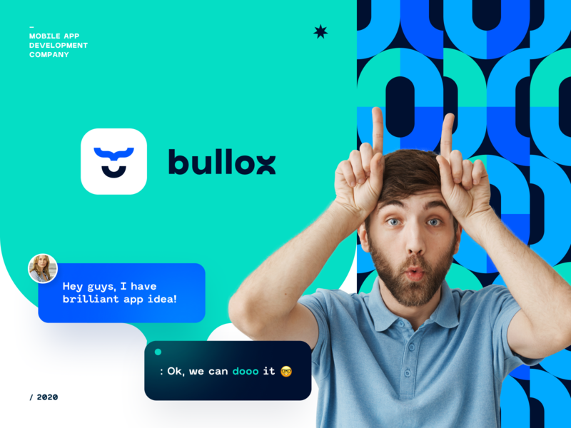 Bullox Development logo identity logotype development code programming coding brand identity gradient pattern branding color startup business halo lab halo colorful