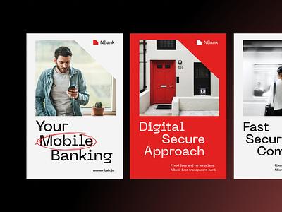 NBank Branding startup fintech branding print fintech business money transfer online banking money financial packaging logotype logo brand sign branding identity brand identity