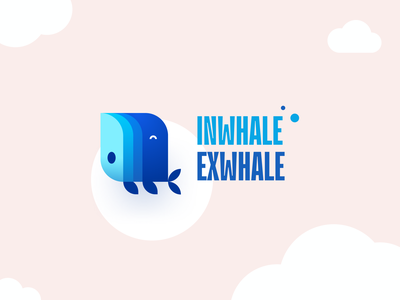 InWhale <> ExWhale illustration child service relaxation mindfulness child meditation meditation relax whale packaging logotype logo brand sign branding identity brand identity