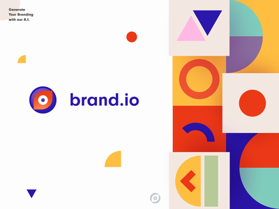 Branding AI artificial intelligence business brand creation brand development packaging brand sign startup halo lab identity design graphic brand logo design logotype logo print colorful ai identity brand identity branding