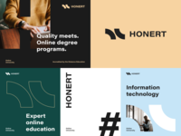 Honert Univesity Branding online education online geek informational technologies program educational diploma disctance learning e-learning education packaging logotype logo brand sign branding identity brand identity