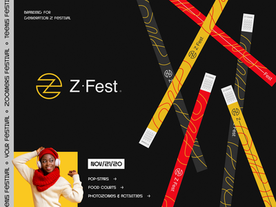 Z-fest Branding halo lab fun entertainment food culture pop music fest festival packaging logotype logo brand sign branding identity brand identity