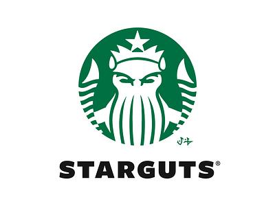 Dawn of the Brands: STARGUTS COFFEE cthulhu playoff warmup spookym cup coffee dribbbleweeklywarmup packaging logotype logo brand sign branding identity brand identity