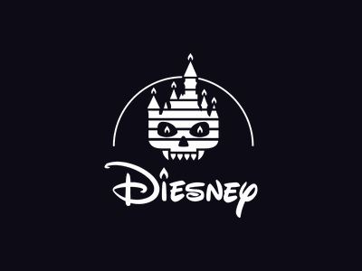Dawn of the Brands: Diesnay amusement park entertainment spooky dribbbleweeklywarmup packaging logotype logo brand sign branding identity brand identity