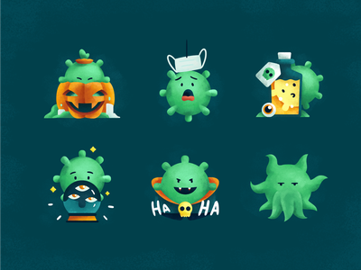 Spooky Newbie: Halloween Pack vector art pumpkin horror dracula halloween party halloween illustrations warmup playoff coronavirus virus illustration spooky dribbbleweeklywarmup