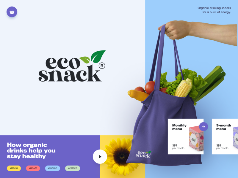 Eco Snack Branding nature ecology health healthcare beverage food snacks eco packaging logotype logo brand sign branding identity brand identity