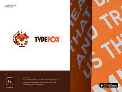 Typefox Font Picker logo design fox font picker fonts logos halo lab brand identity identity logotype branding icon app logo