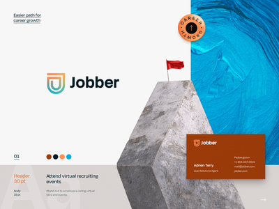 Jobber. Career Boost Branding halo lab first job expert experts self-development profession professional tips mentorship experience work job career packaging logotype logo brand sign branding identity brand identity