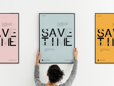 Save Time Poster branding design packaging halo lab logotype logo brand identity printing identity branding