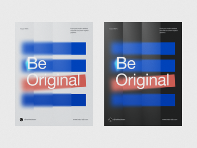 Be Original Poster print blur branding design brand sign clean design printing halo lab logotype identity brand identity logo branding