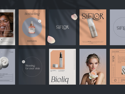 Siflor Aesthetic Branding cosmetology skincare care makeup cosmetic beauty products beauty packaging logotype logo brand sign branding identity brand identity
