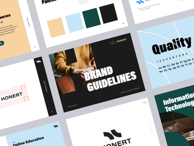 Honert Univesity Branding Guidelines educational geek online packaging education online education print halo lab identity logotype logo brand identity branding