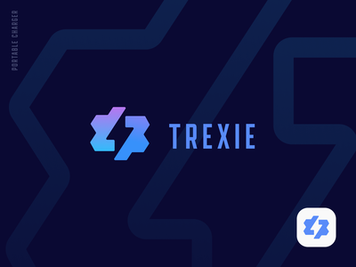 Trexie Portable Charger identity branding future charger logos identity design brand design halo lab logo design logodesign print identity logotype brand identity logo branding