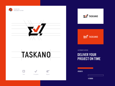 Taskano Branding halo lab project management management release prokect task board educational packaging logotype logo brand sign branding identity brand identity