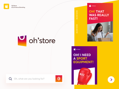 Oh'Store Branding printing print halo lab sign pack handle sport shop packaging logotype logo brand sign branding identity brand identity