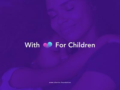 Chariss Branding logo design halo lab kid kids child philanthropy philanthropic charity children packaging logotype logo brand sign branding identity brand identity