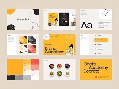 Homechef Branding branding design brandbook packaging brand sign halo lab identity logotype brand identity logo branding