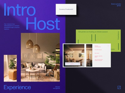 Intro to Hosting Identity business poster photos printing real estate airbnb packaging brand sign halo lab identity logotype brand identity logo branding